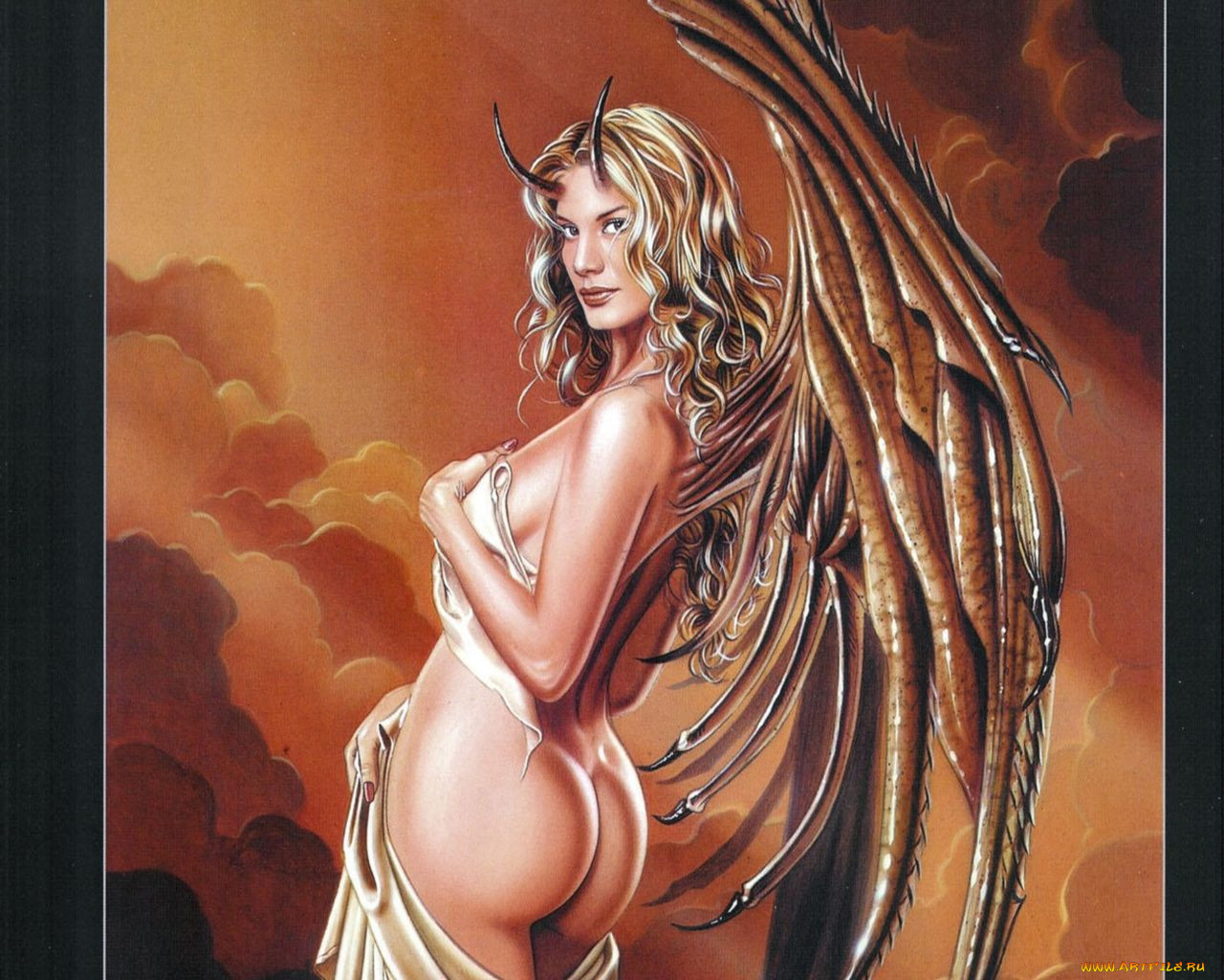 Adult demon fantasy art sexy pics